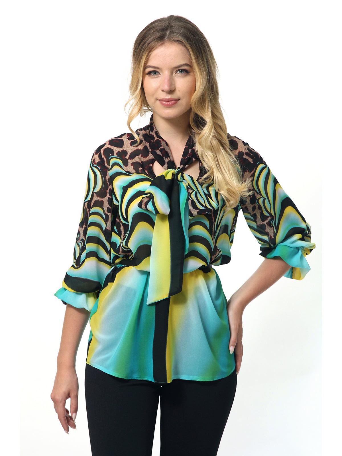 Блуза комбінованого забарвлення | 5627002