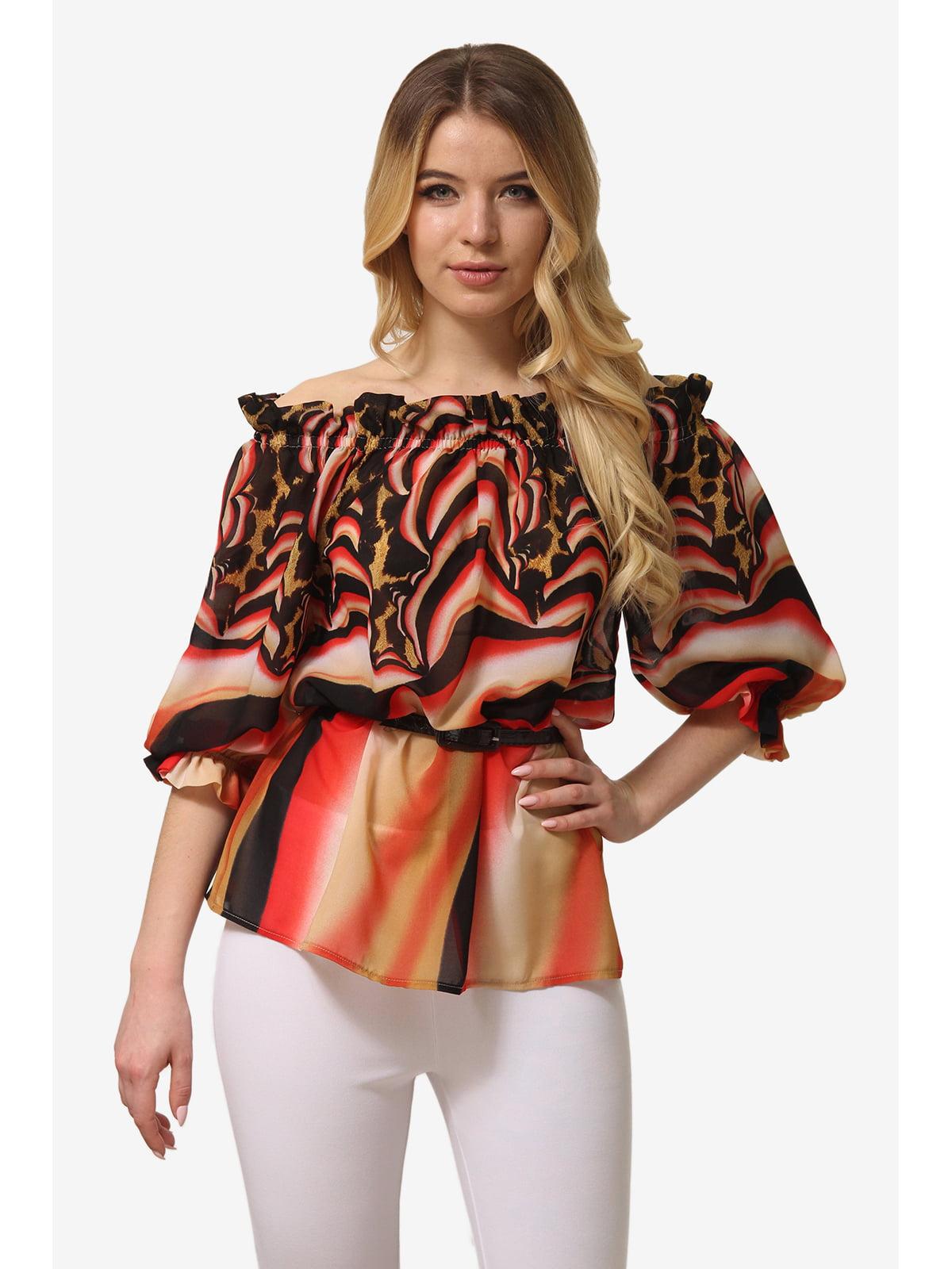Блуза комбінованого забарвлення | 5627015