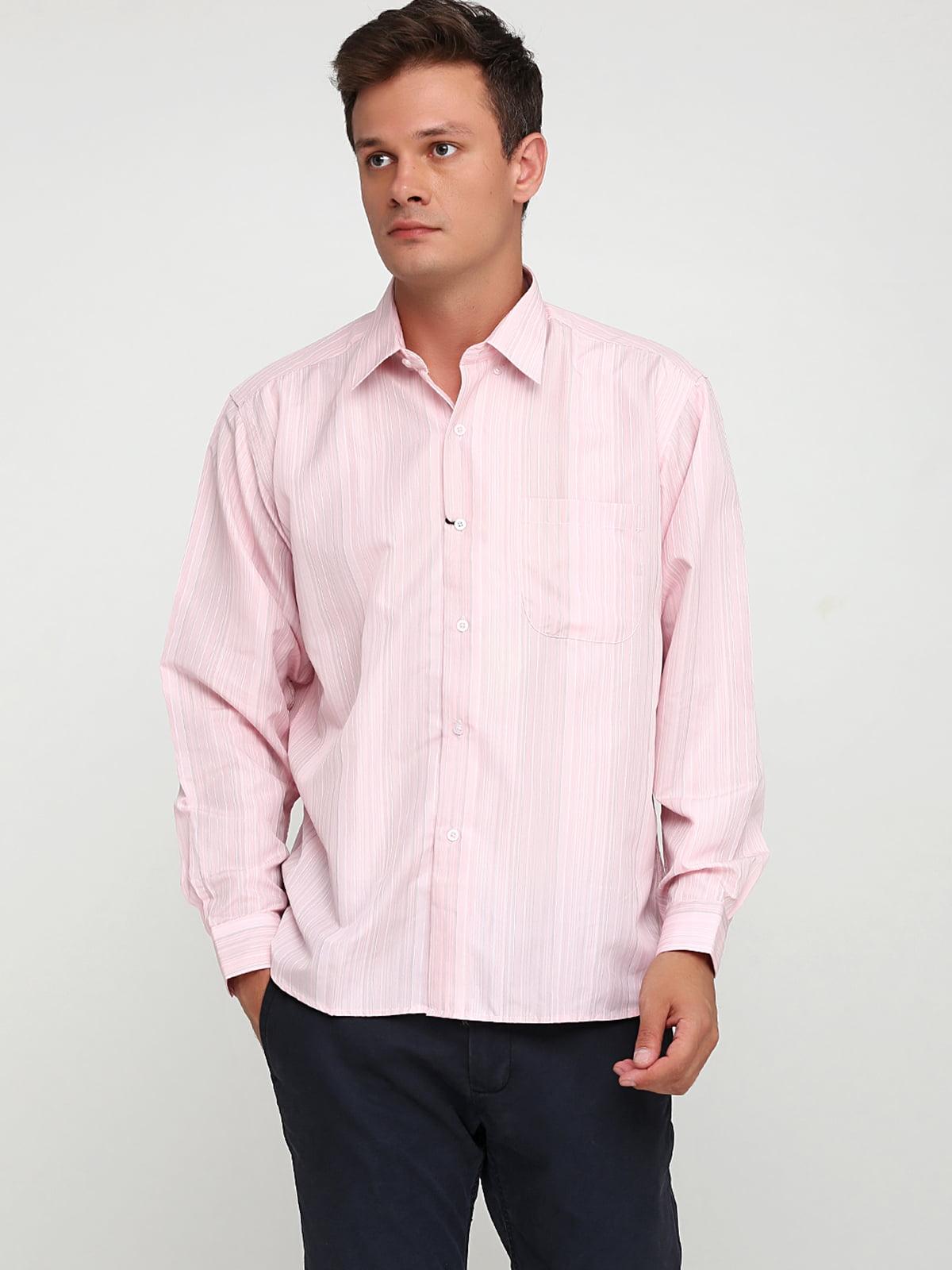 Сорочка рожевого кольору в смужку | 5628513