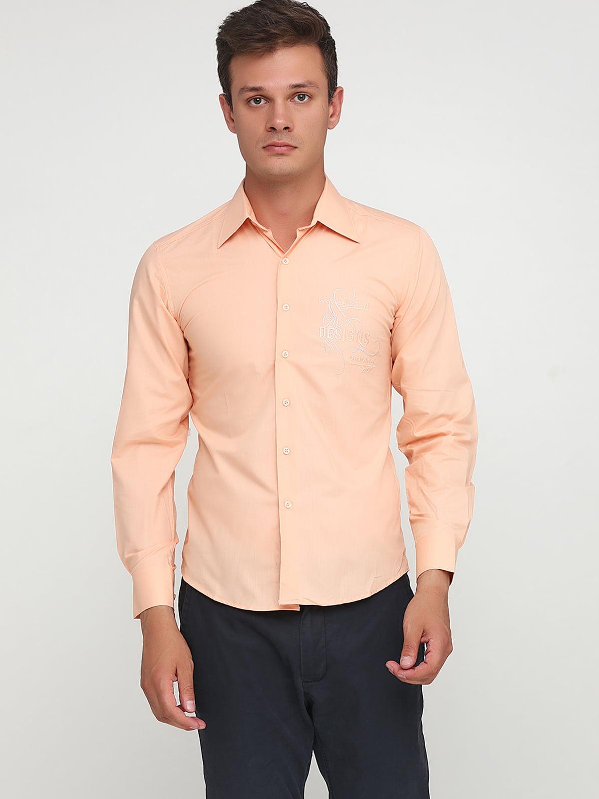 Сорочка абрикосового кольору з малюнком | 5628536