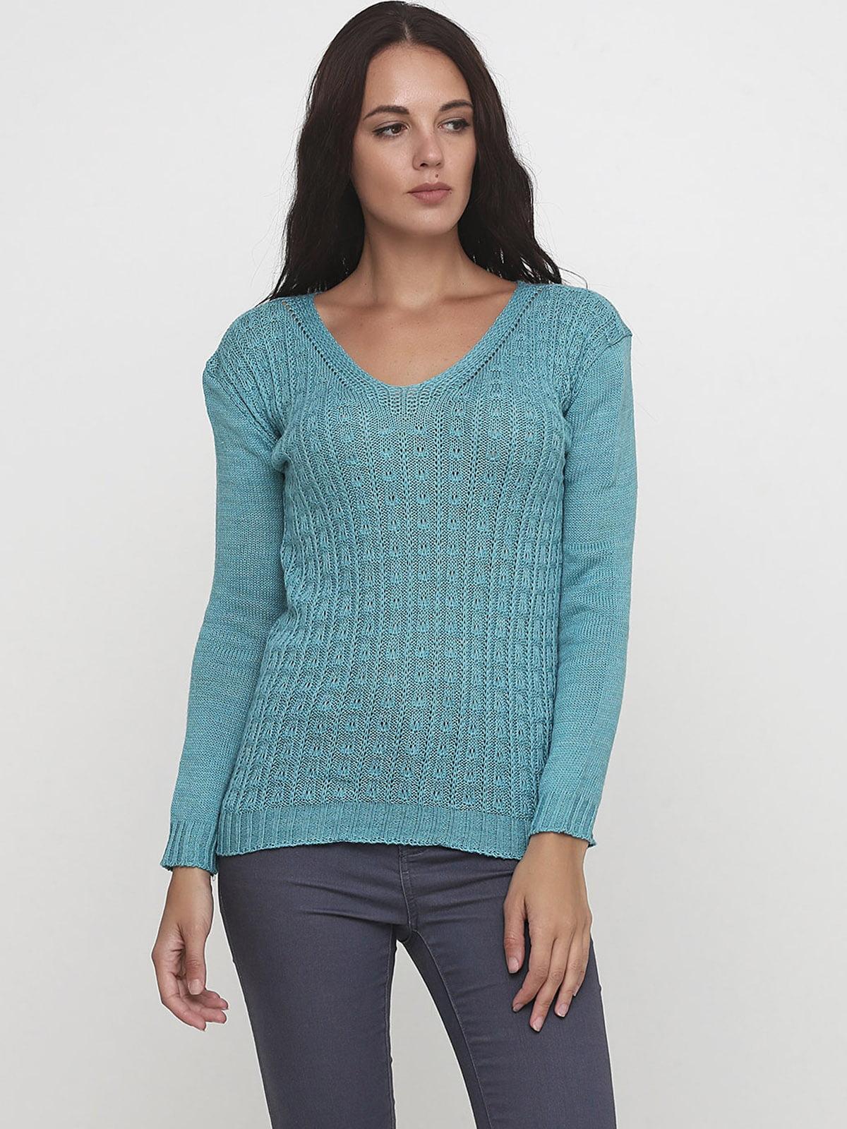 Пуловер бірюзовий   5628484
