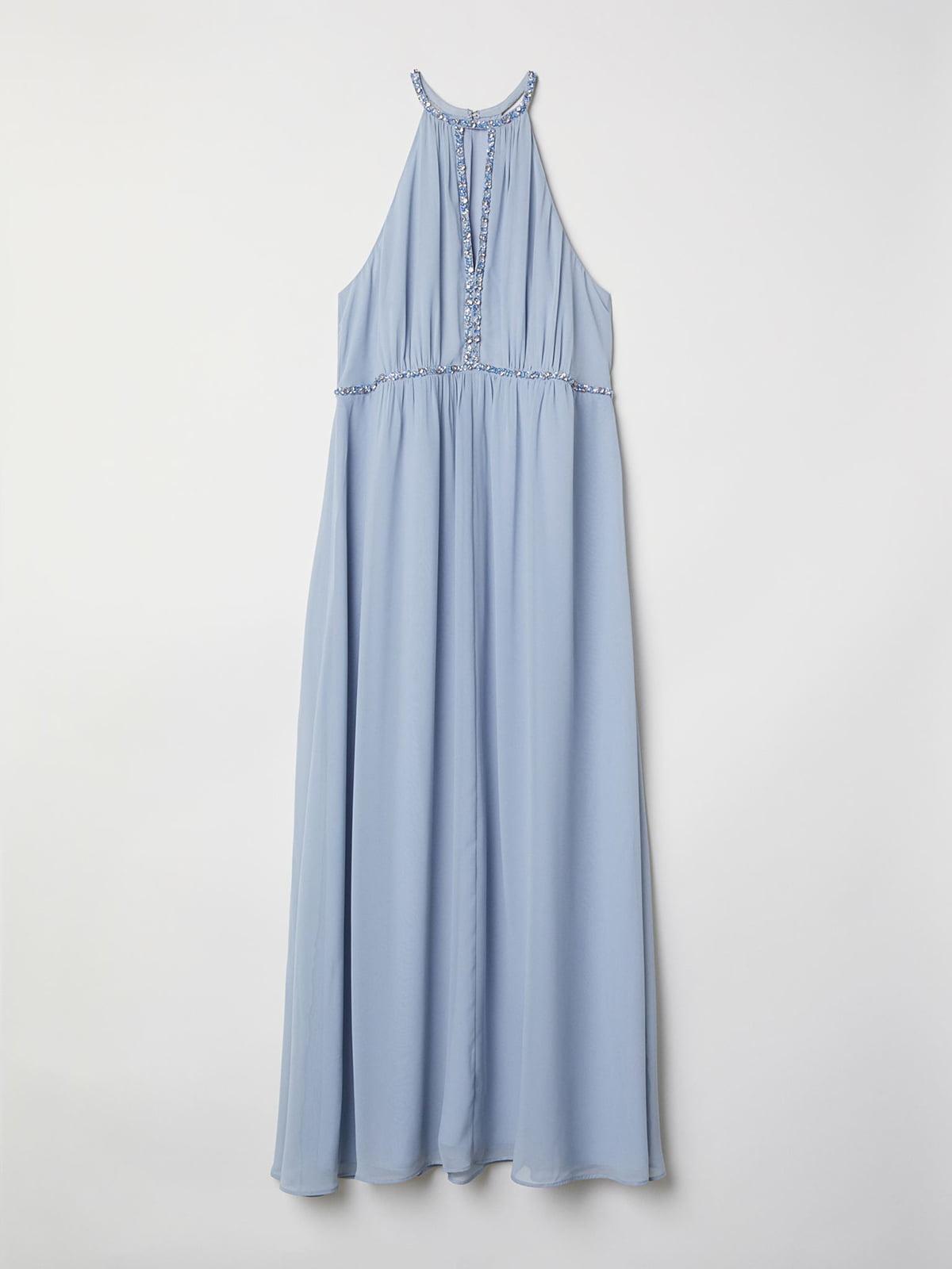 Платье голубого цвета   5627838