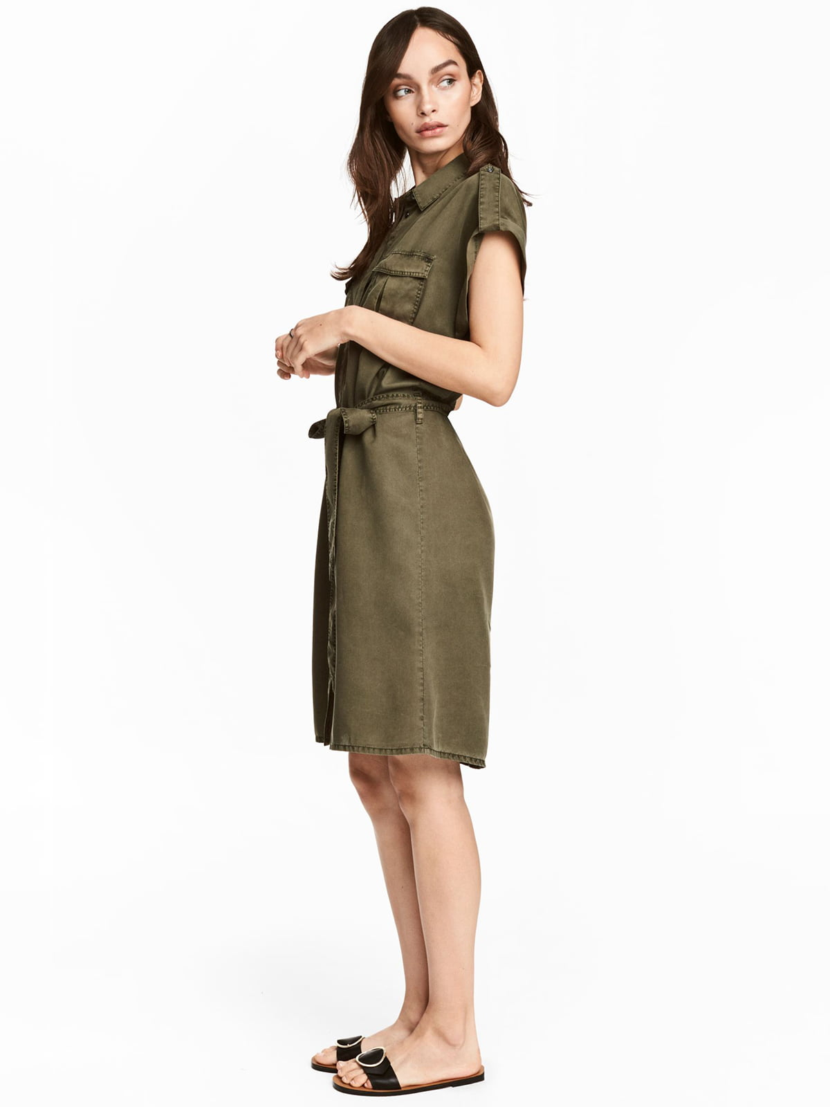 Платье цвета хаки | 5628838
