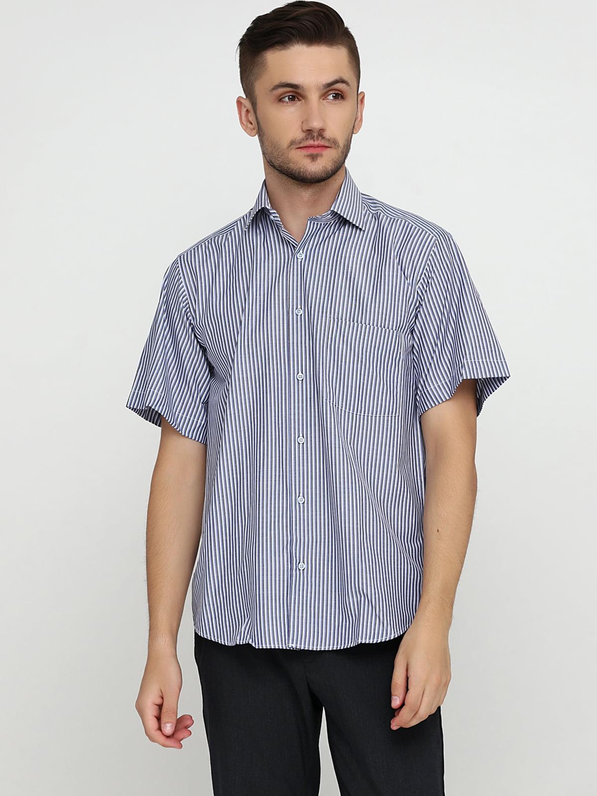 Сорочка біло-синя в смужку | 5631800