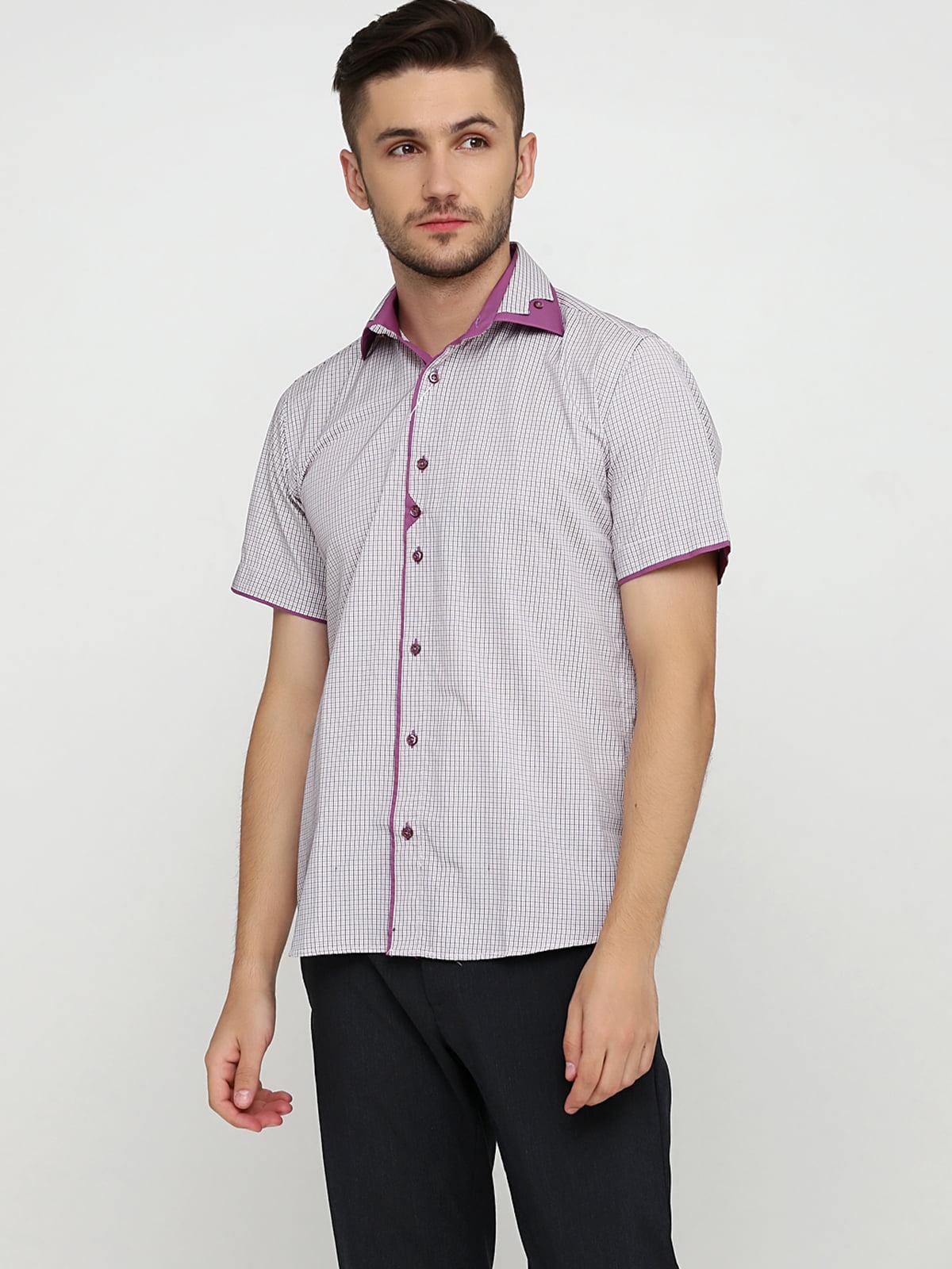 Сорочка біло-рожева в смужку   5631803