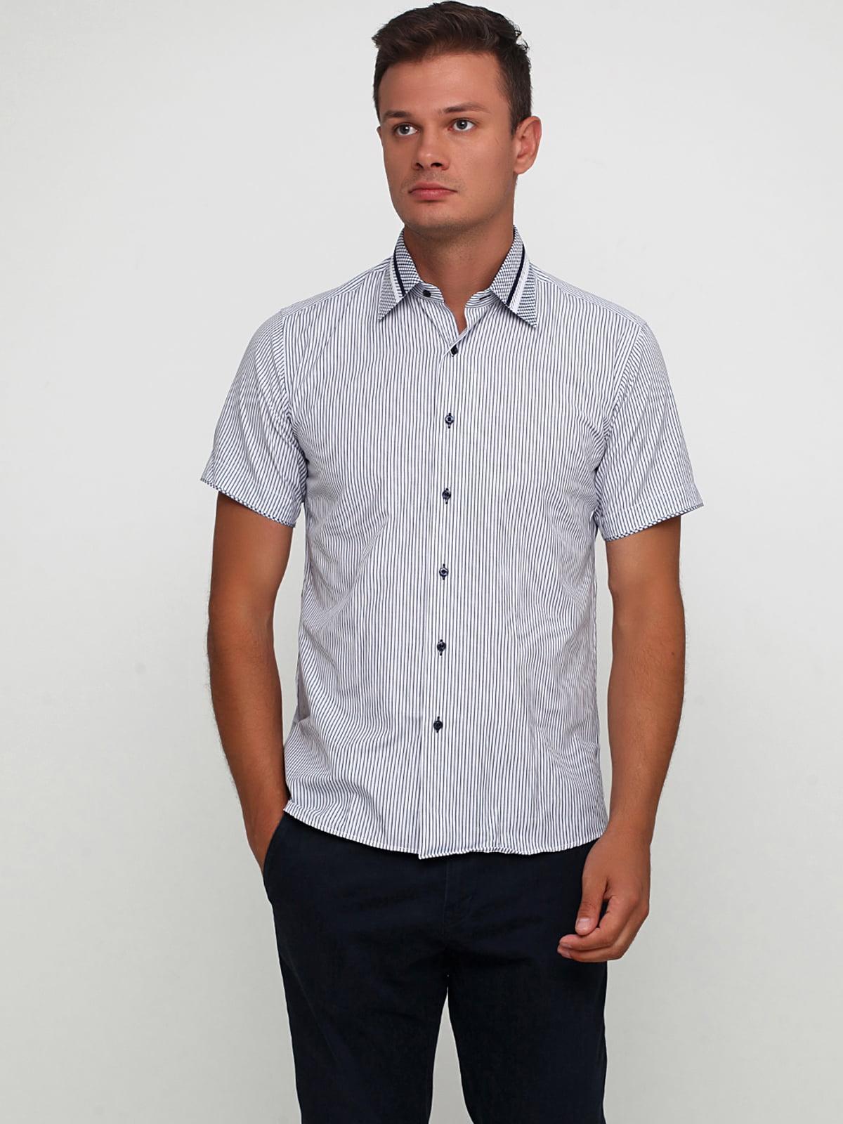 Сорочка біло-синя в смужку | 5631837