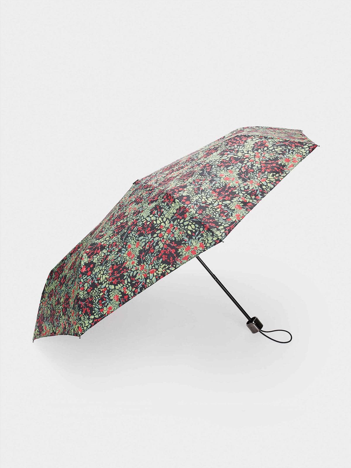 Зонт зеленый в принт | 5634750