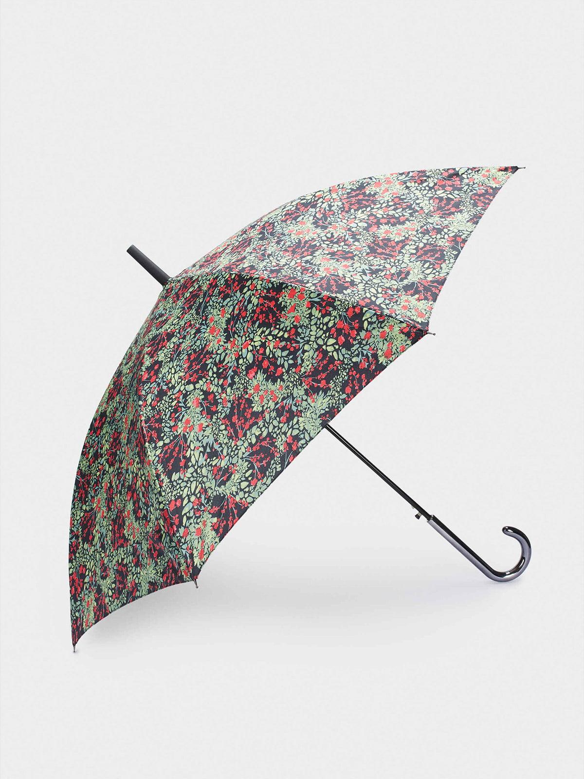 Зонт зеленый в принт   5634751