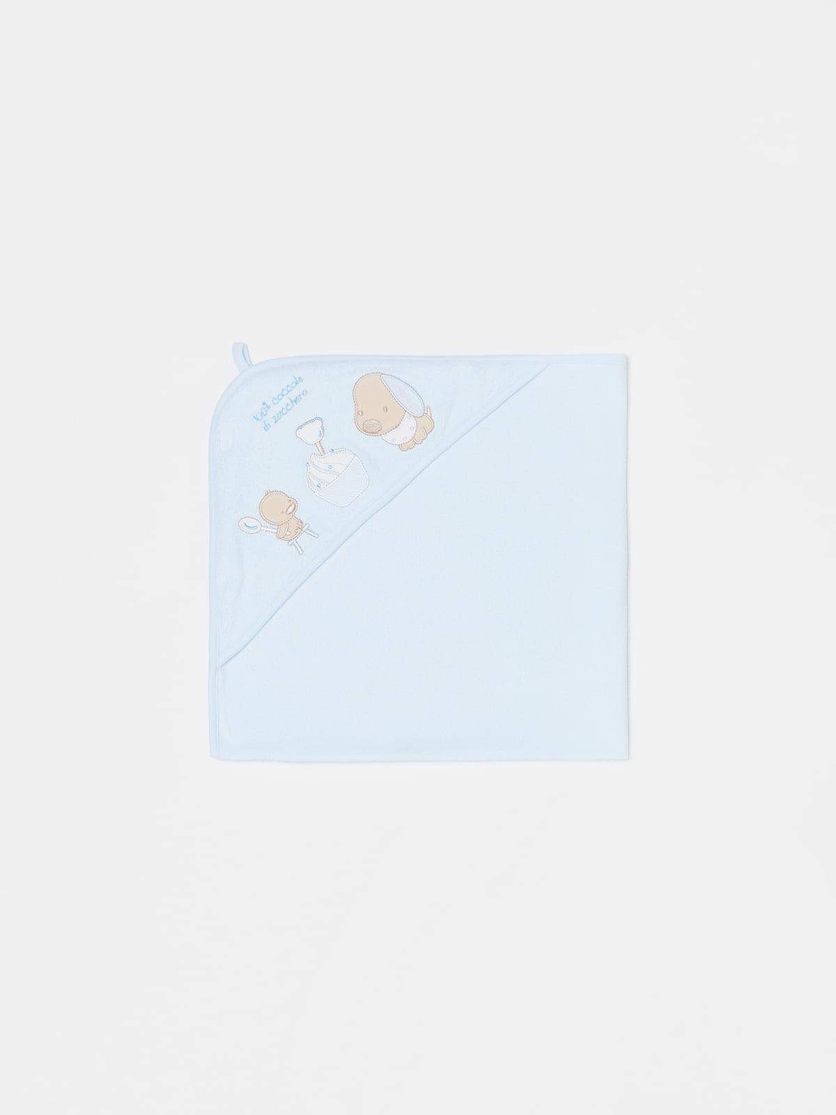 Полотенце-уголок голубое | 5635382