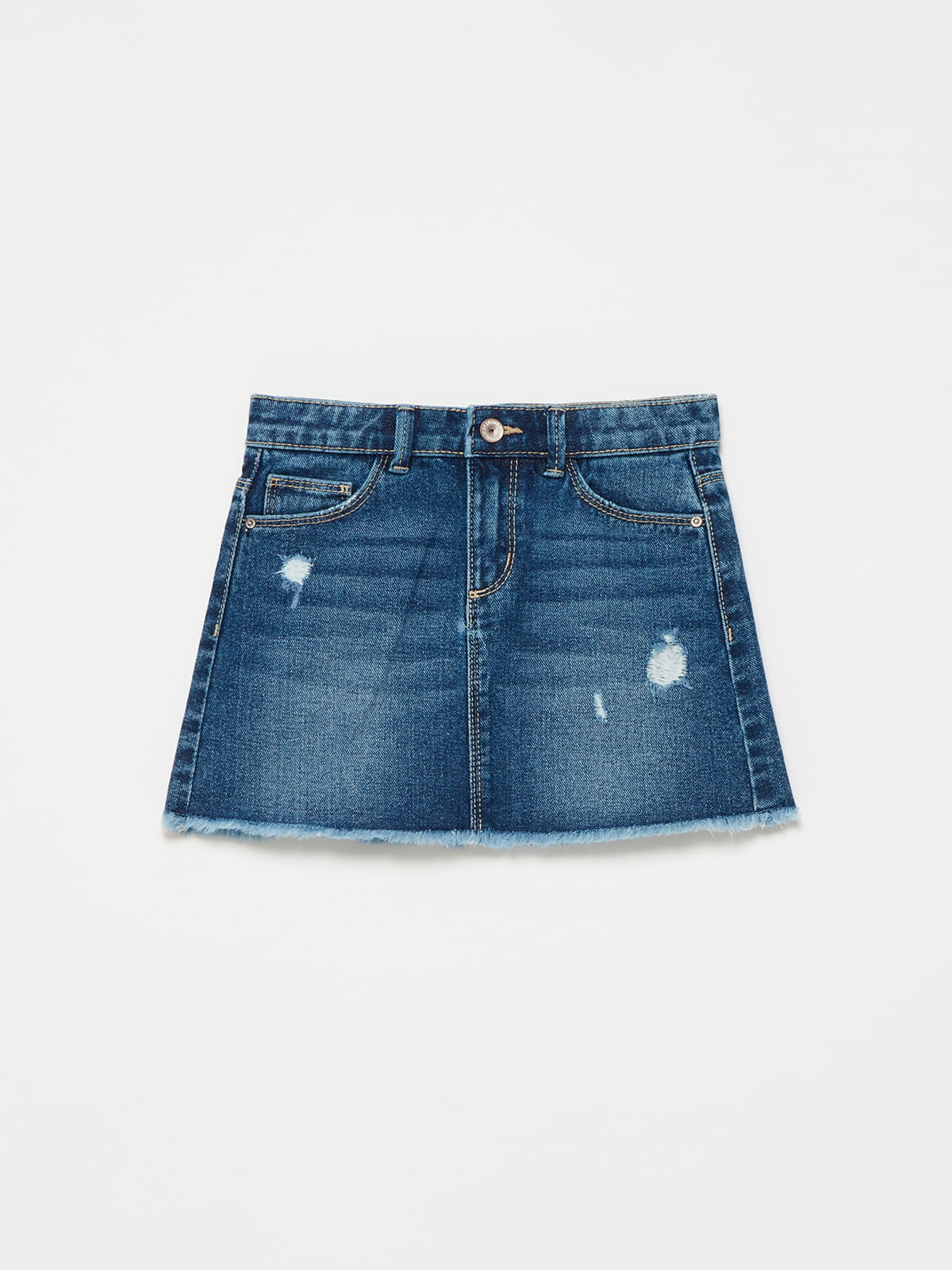 Юбка синяя джинсовая | 5635451