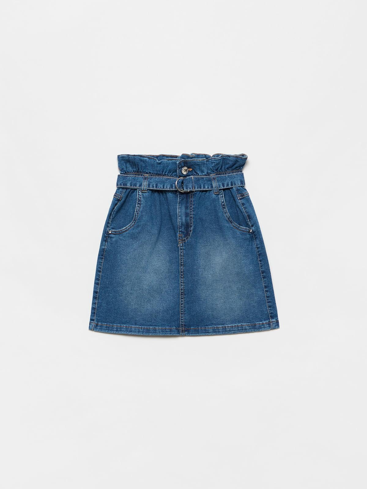 Юбка синяя джинсовая | 5635476