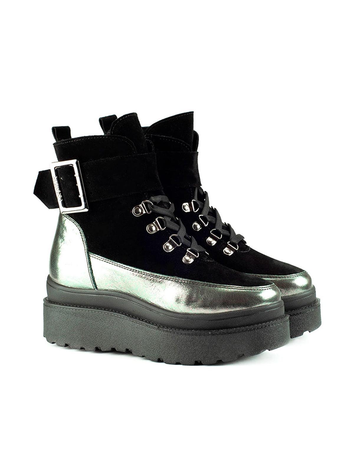 Ботинки черно-серебристые | 5635961