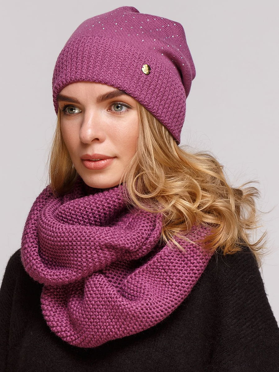 Комплект: шапка и шарф-снуд | 5640414