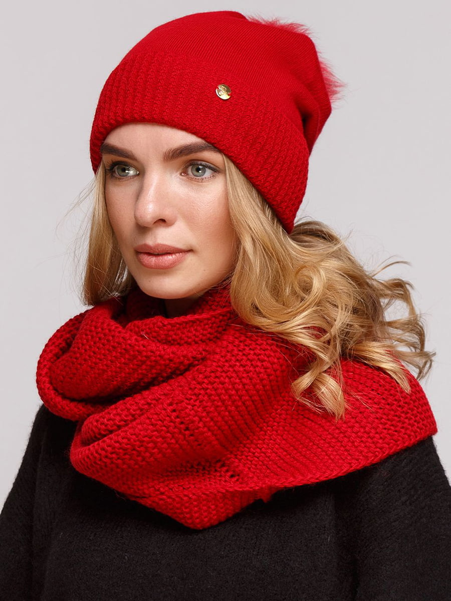 Комплект: шапка и шарф-снуд | 5640446