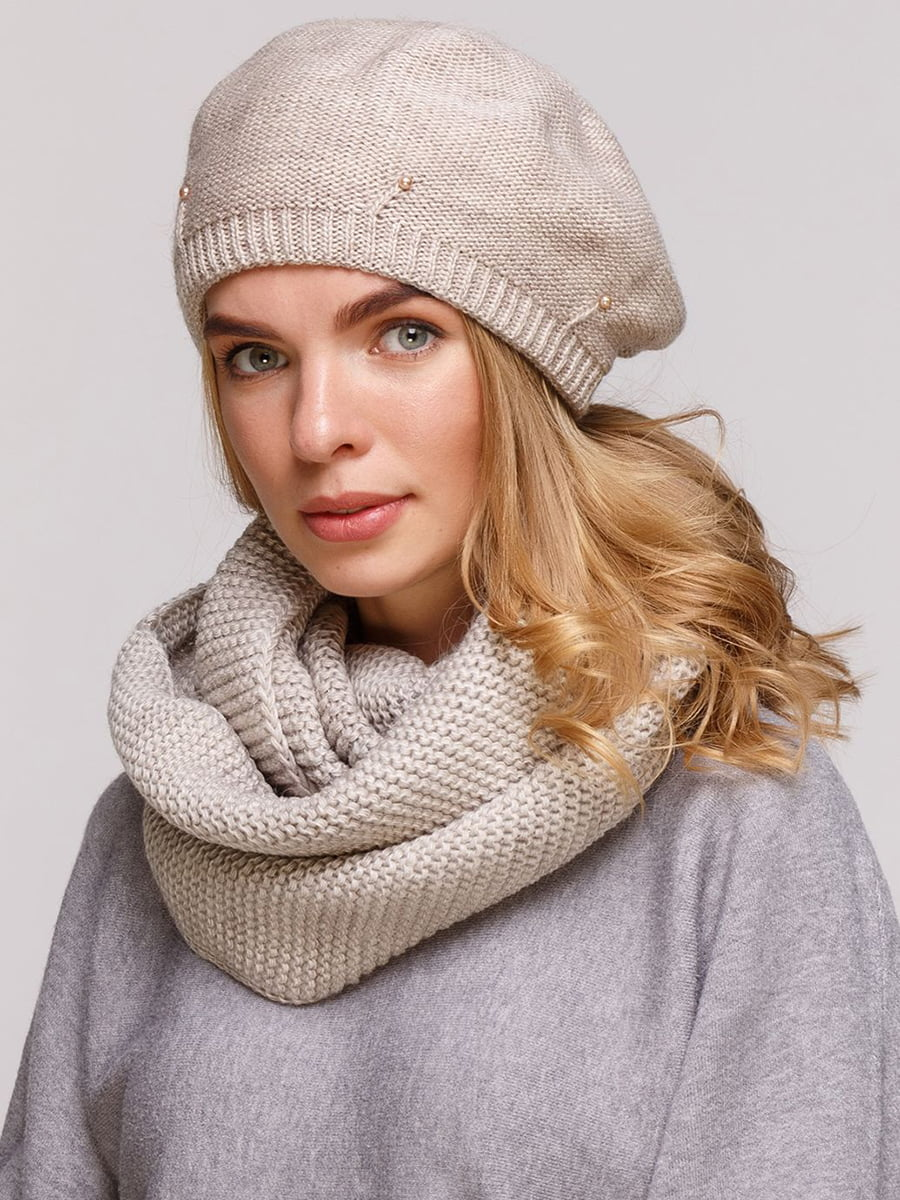 Комплект: берет и шарф-снуд | 5640457