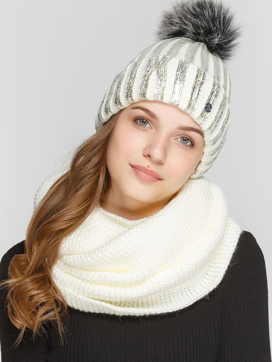 Комплект: шапка и шарф-снуд | 5640568