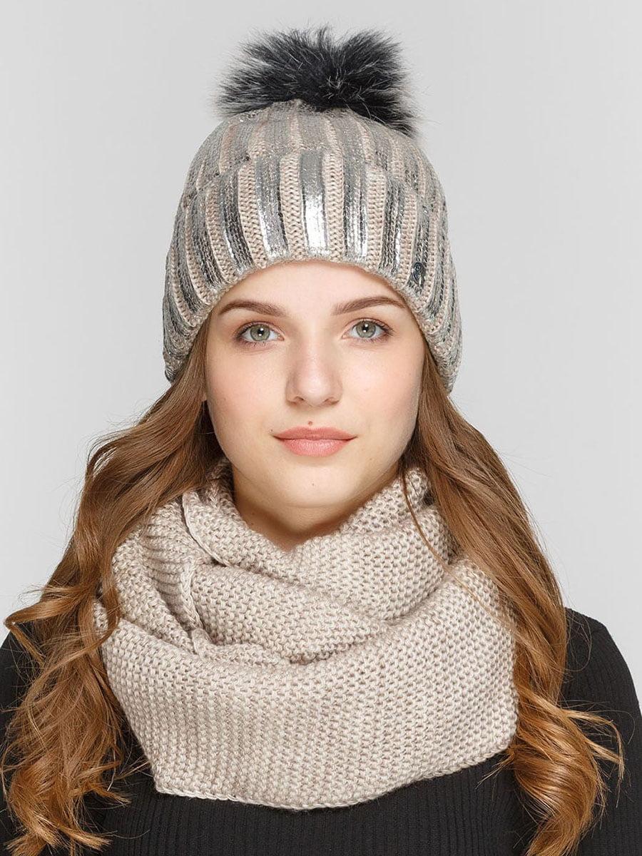 Комплект: шапка и шарф-снуд | 5640572