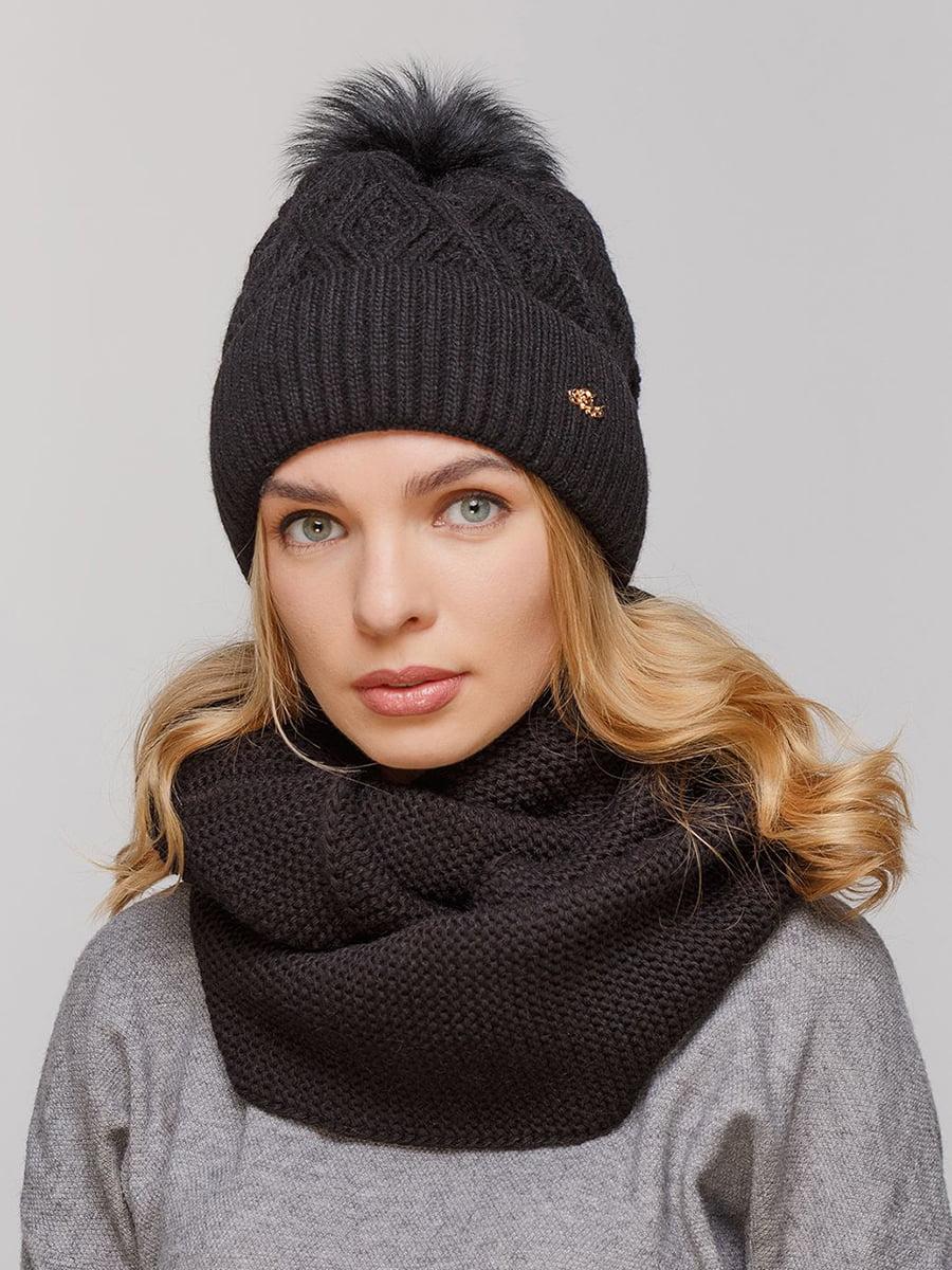Комплект: шапка и шарф-снуд | 5640591