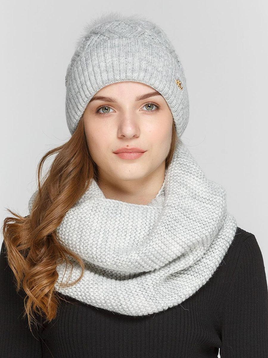 Комплект: шапка і шарф-снуд | 5640592