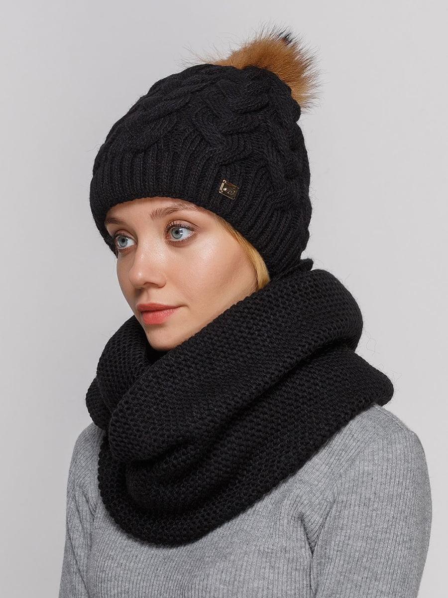 Комплект: шапка и шарф-снуд | 5640611