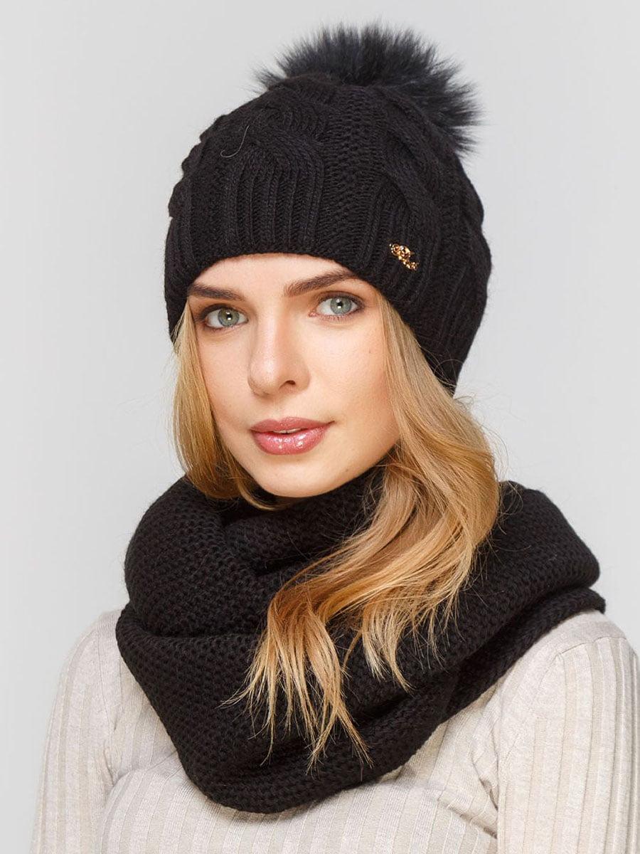 Комплект: шапка и шарф-снуд | 5640614