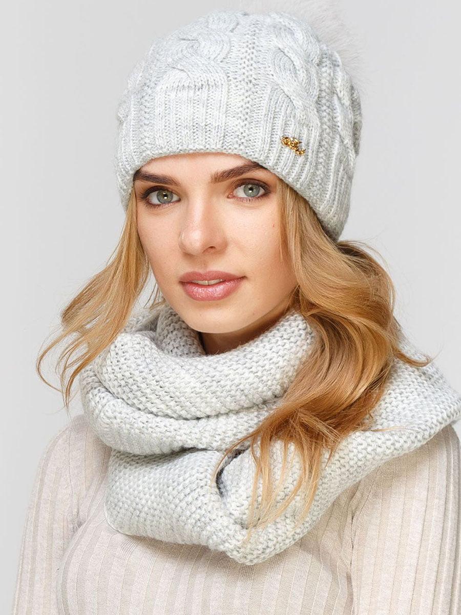 Комплект: шапка и шарф-снуд | 5640615