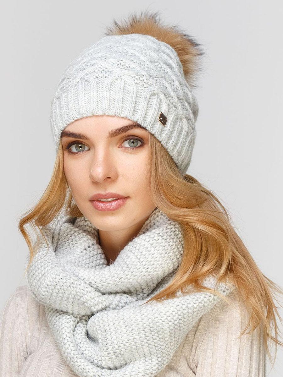 Комплект: шапка и шарф-снуд | 5640616