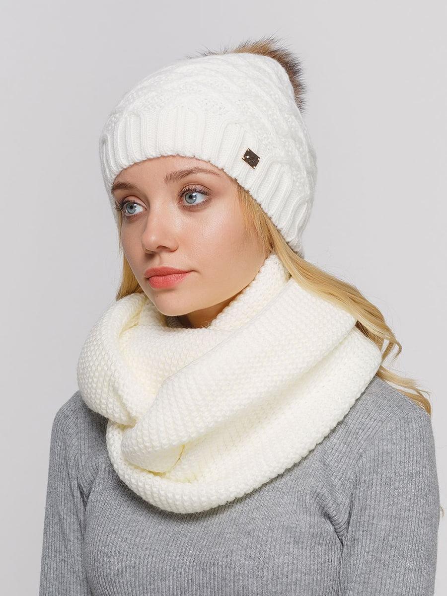 Комплект: шапка и шарф-снуд | 5640617