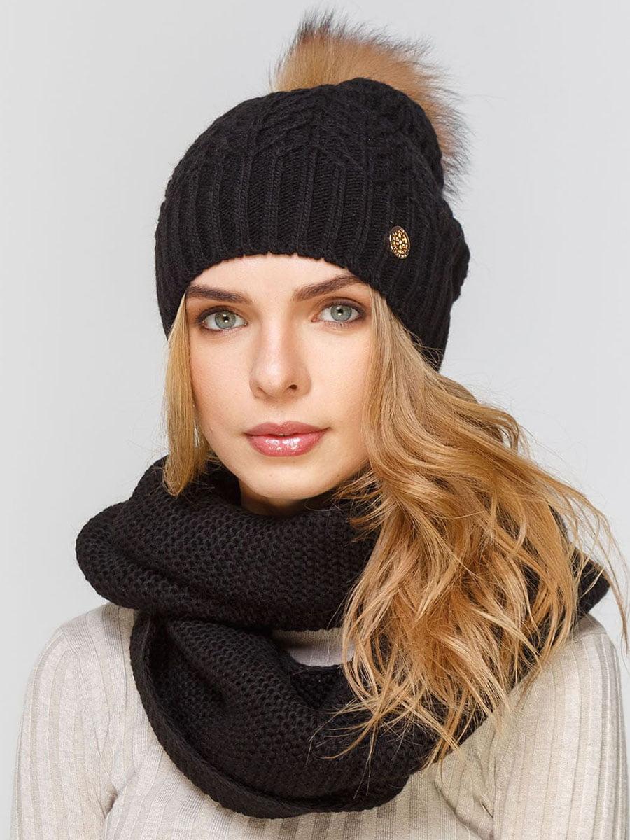Комплект: шапка і шарф-снуд | 5640625