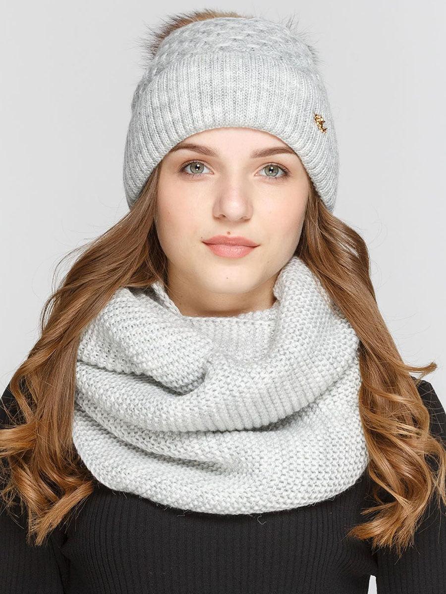 Комплект: шапка и шарф-снуд | 5640636