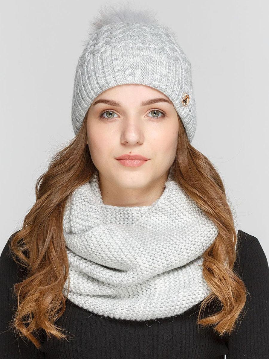 Комплект: шапка и шарф-снуд | 5640649