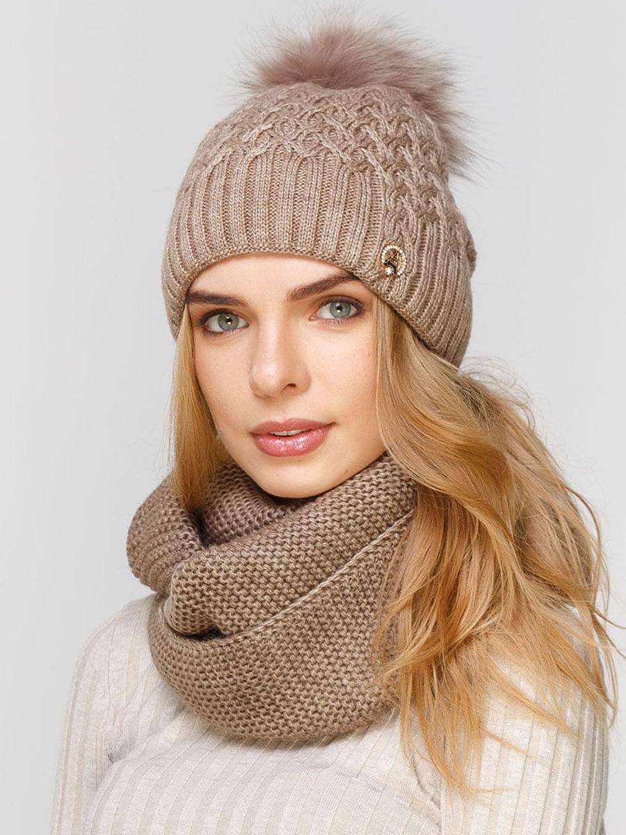 Комплект: шапка і шарф-снуд | 5640651