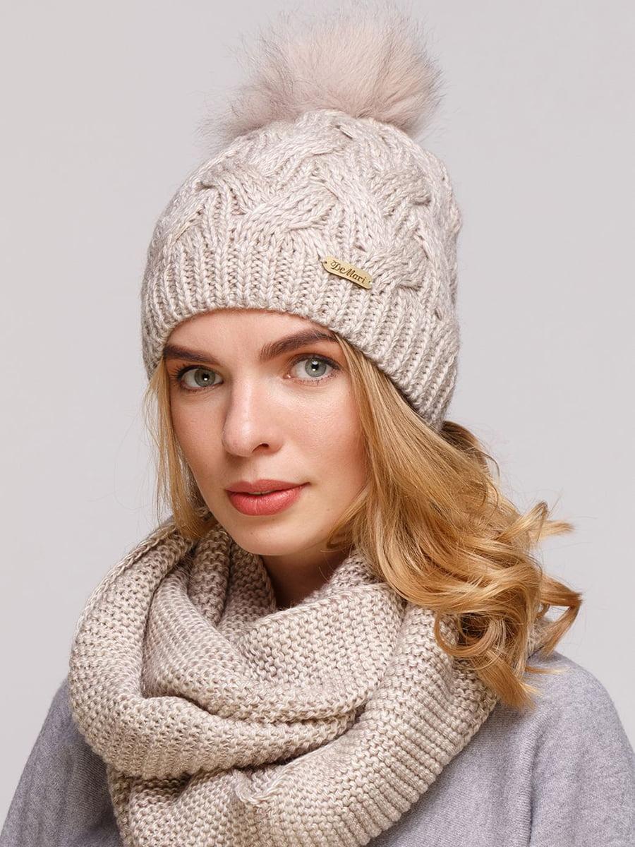 Комплект: шапка и шарф-снуд   5640675