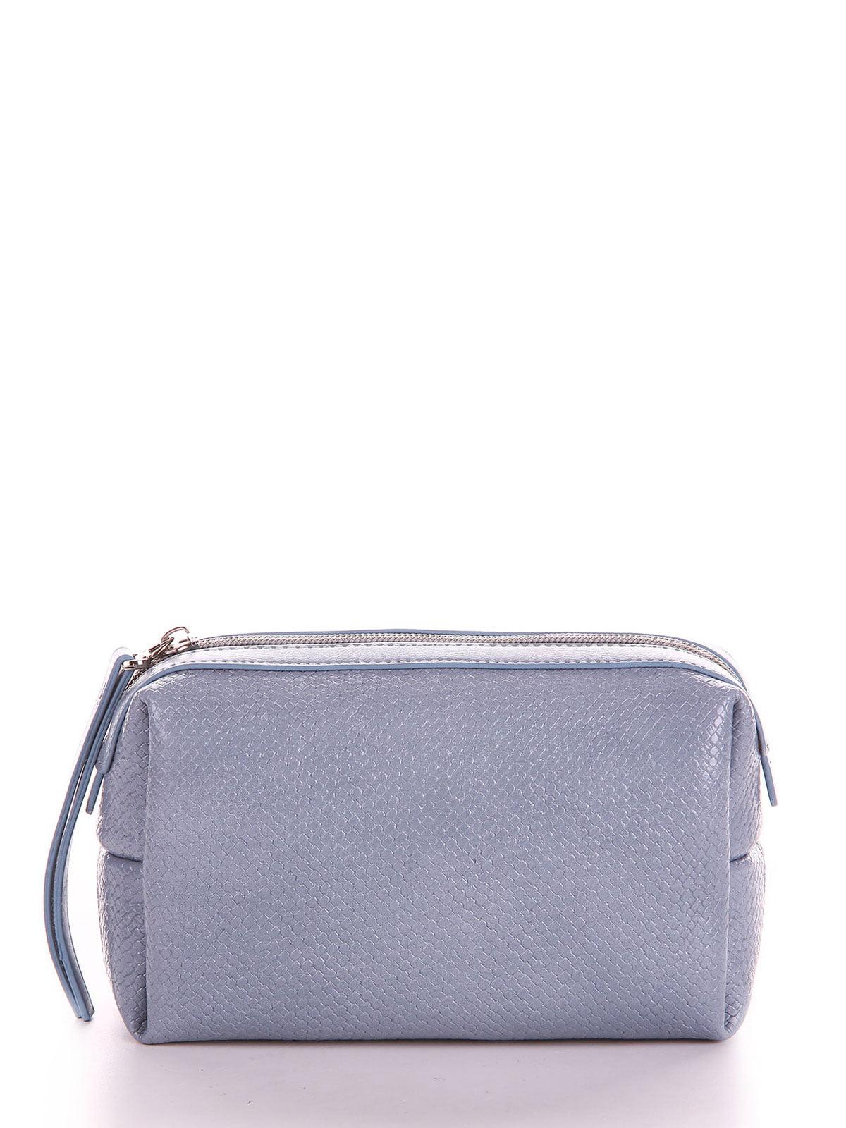 Косметичка сіро-блакитного кольору | 5641217