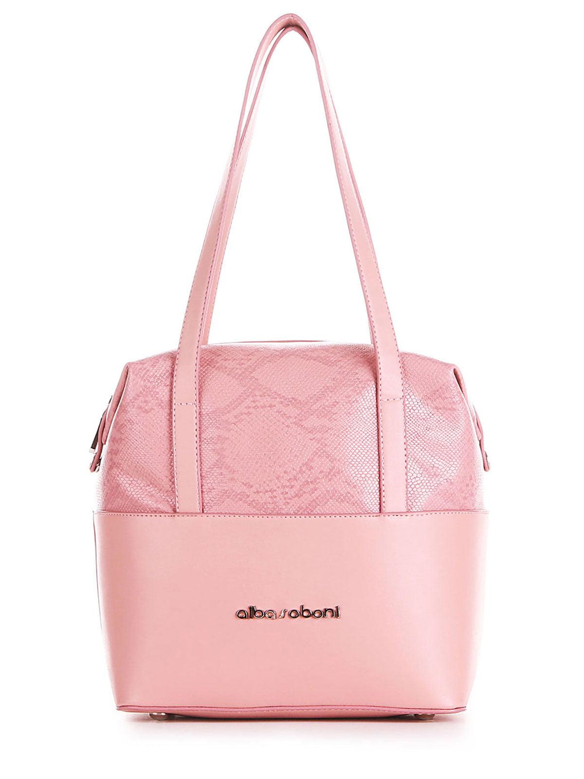 Сумка розовая с анималистическим узором | 5641278