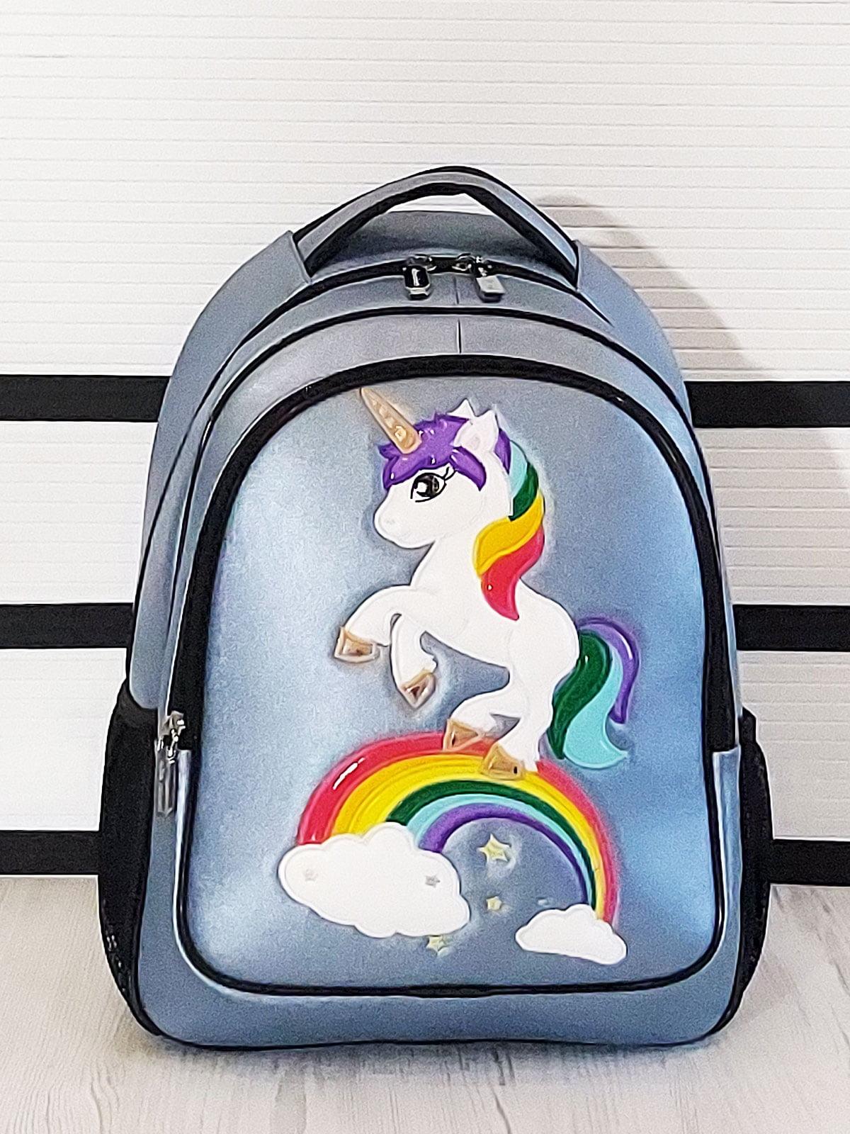 Рюкзак голубой с рисунком | 5641306