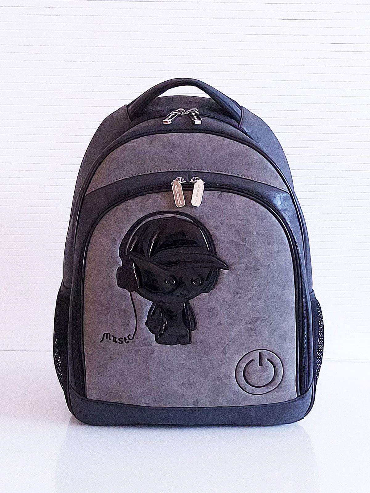 Рюкзак черный с рисунком | 5641310