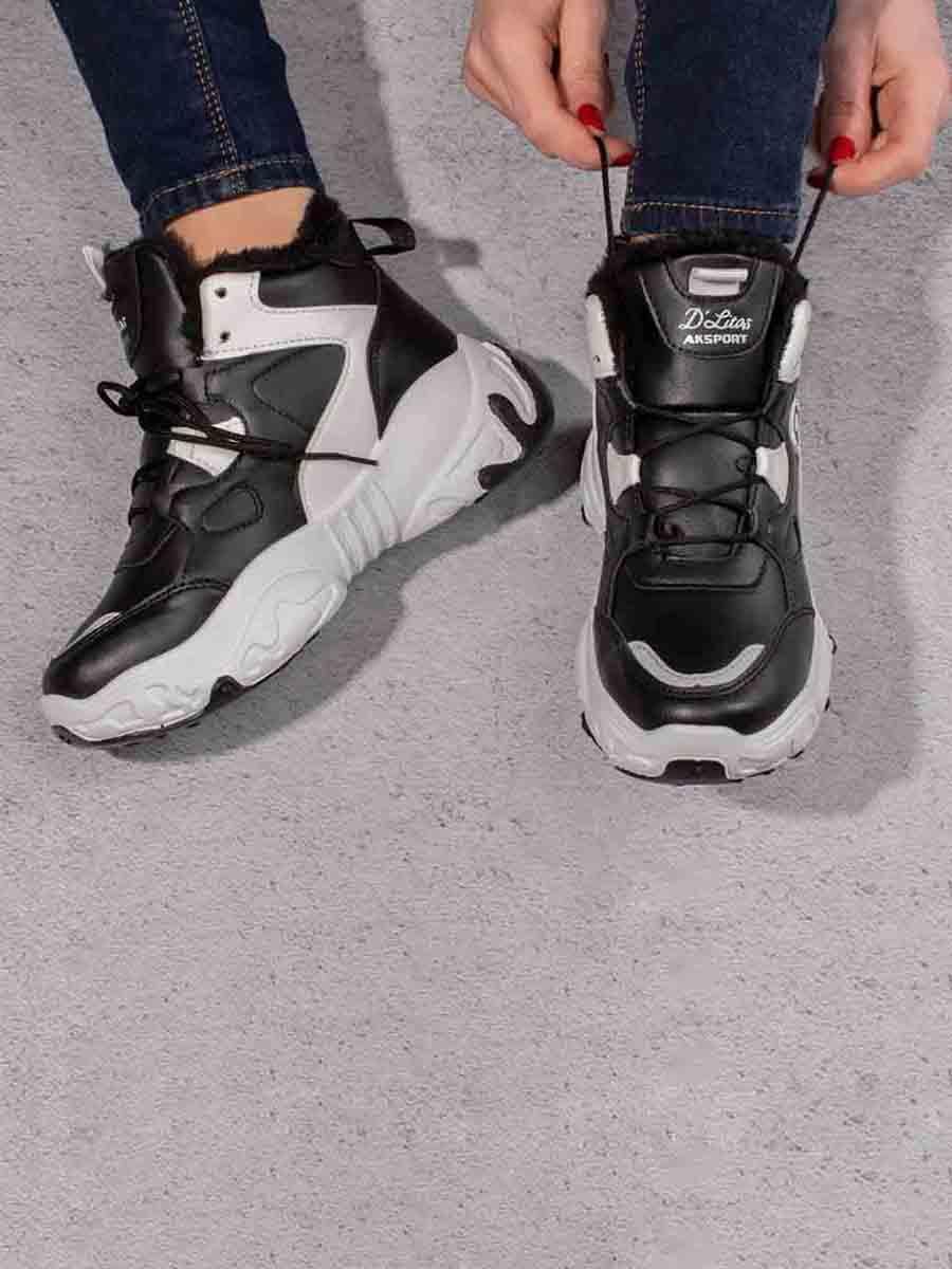 Кросівки чорні з декором | 5642729