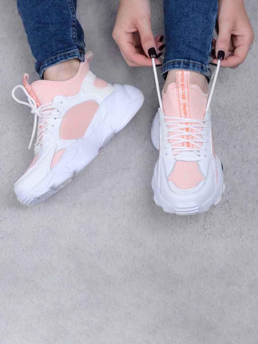 Кроссовки розово-белые | 5644112