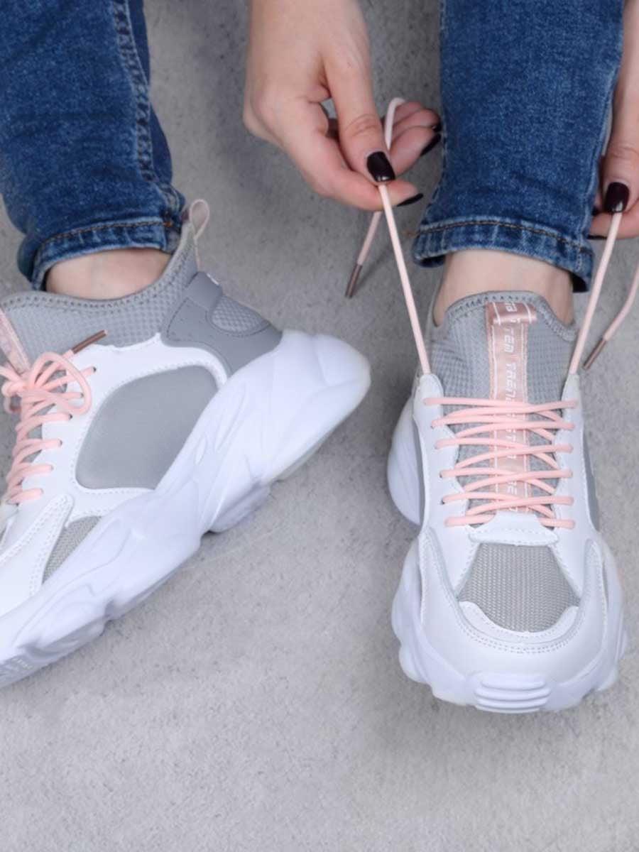 Кроссовки серо-белые | 5644113