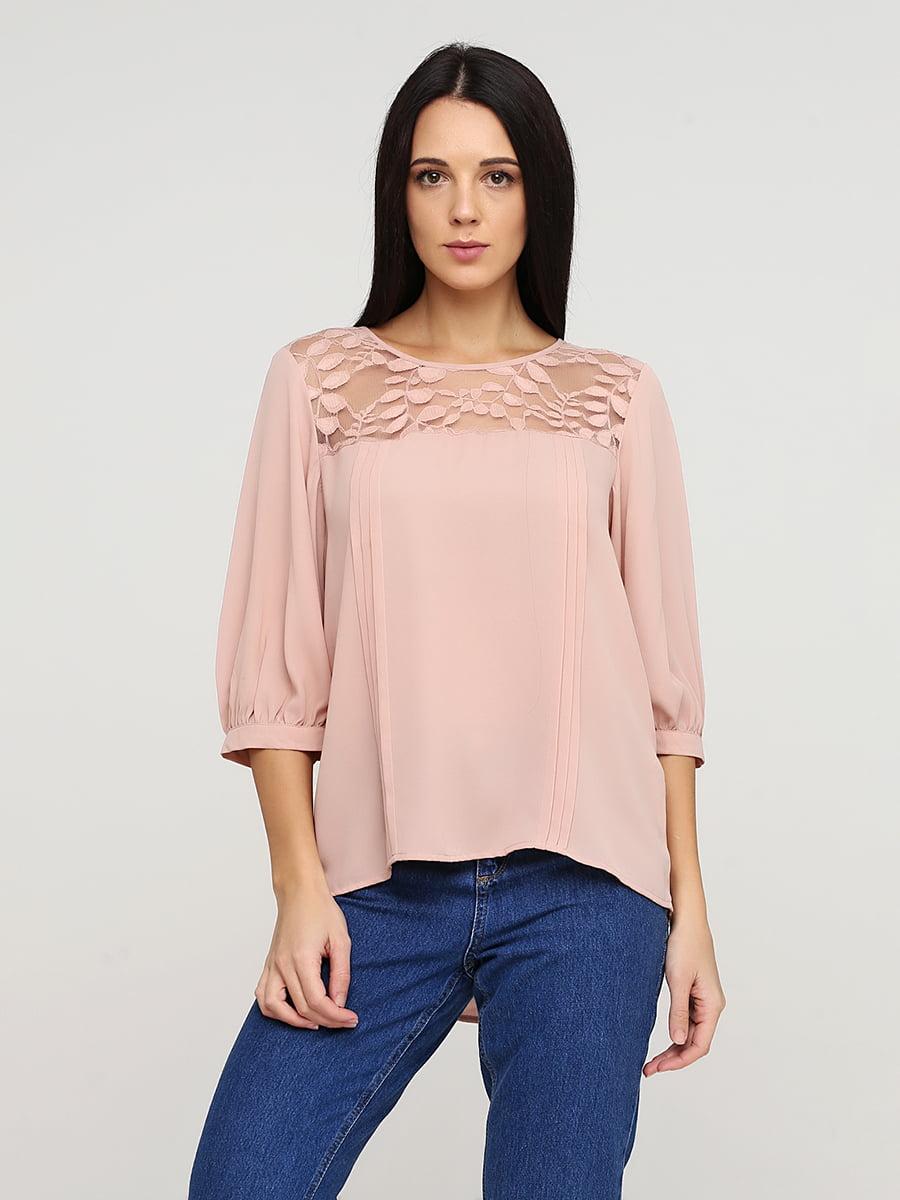 Блуза пудрового кольору | 5641588