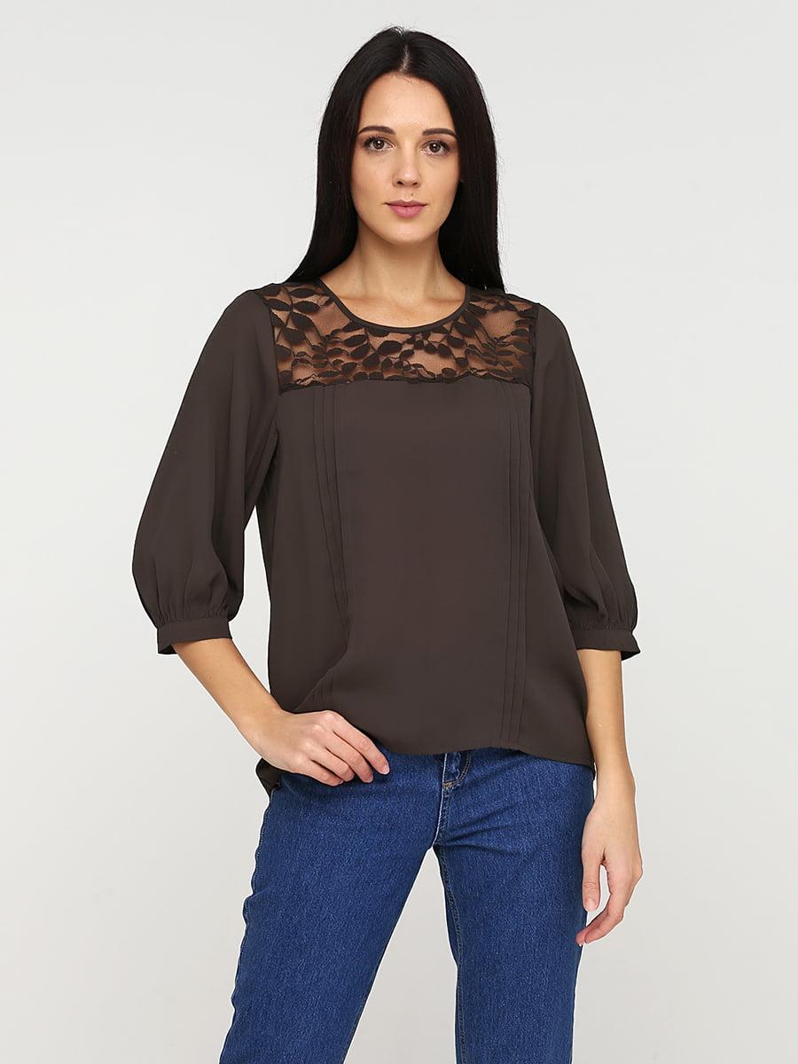 Блуза коричнева | 5641591