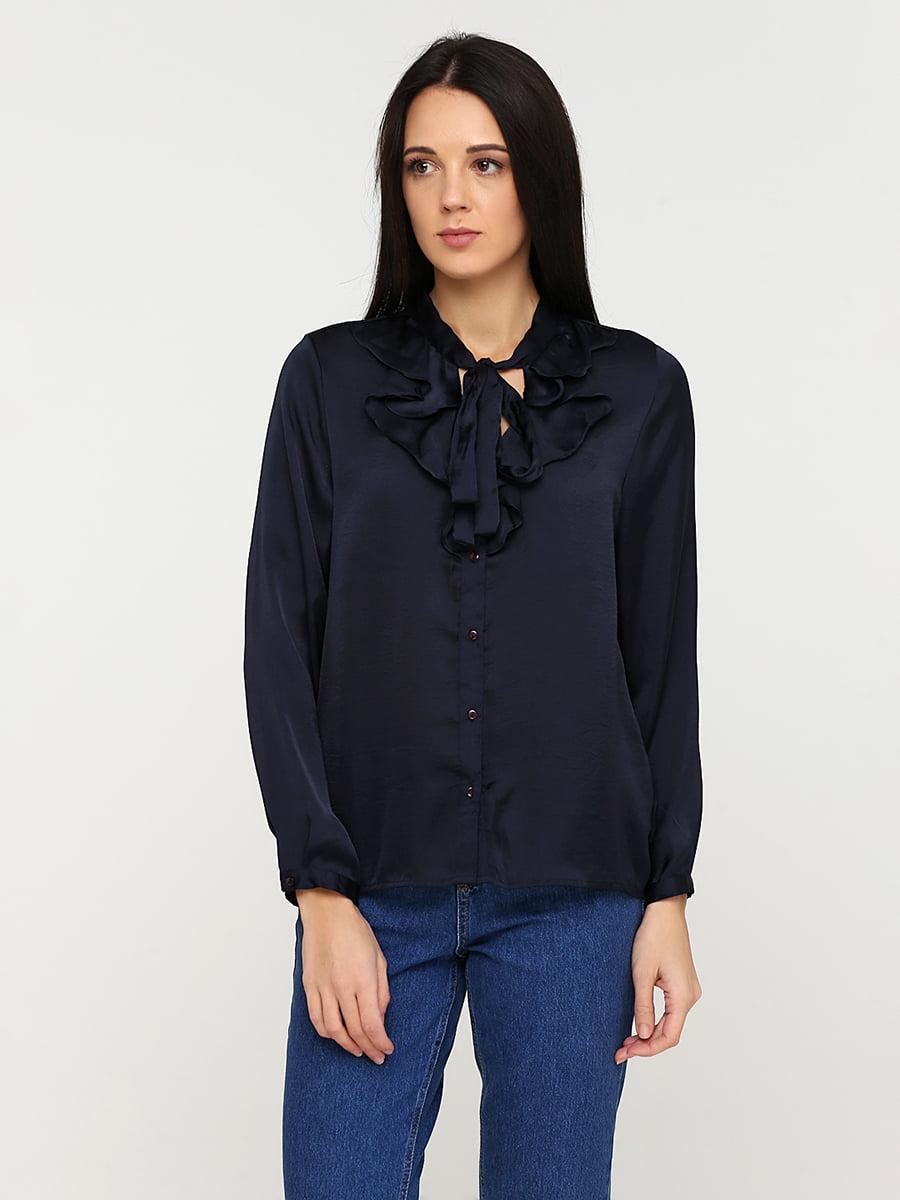 Блуза темно-синя | 5641592