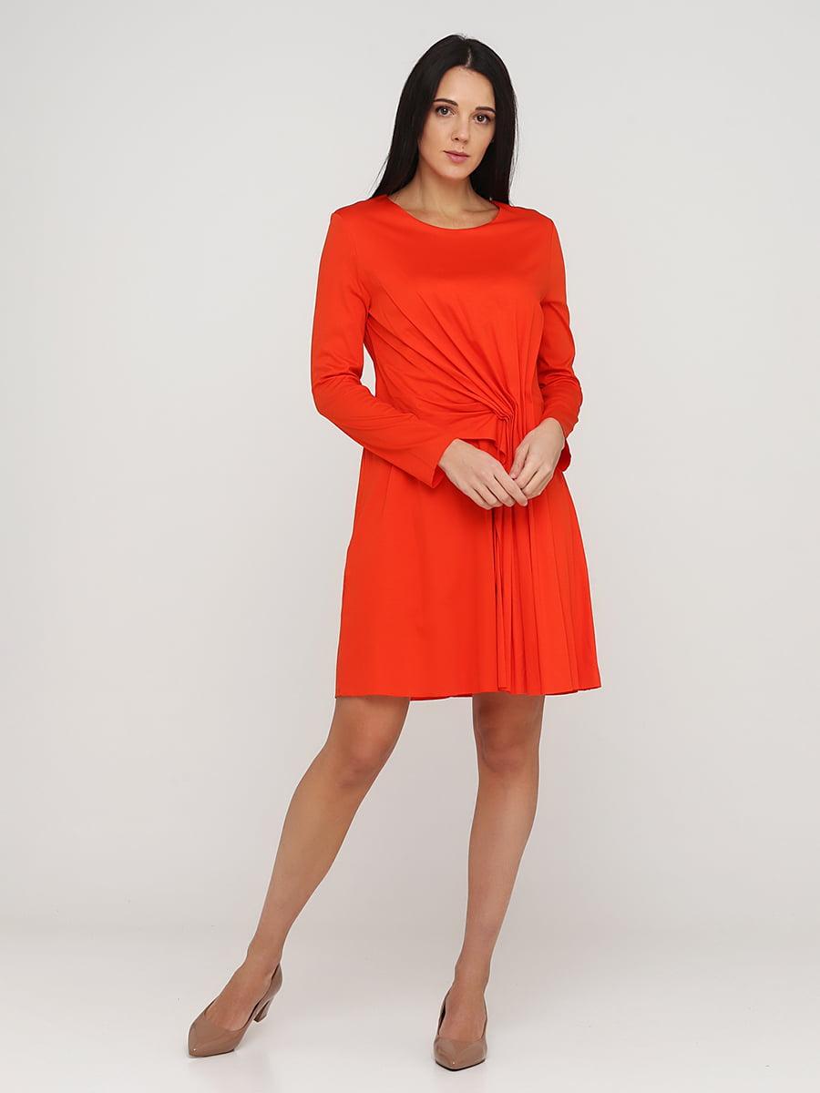 Платье оранжевое | 5641697