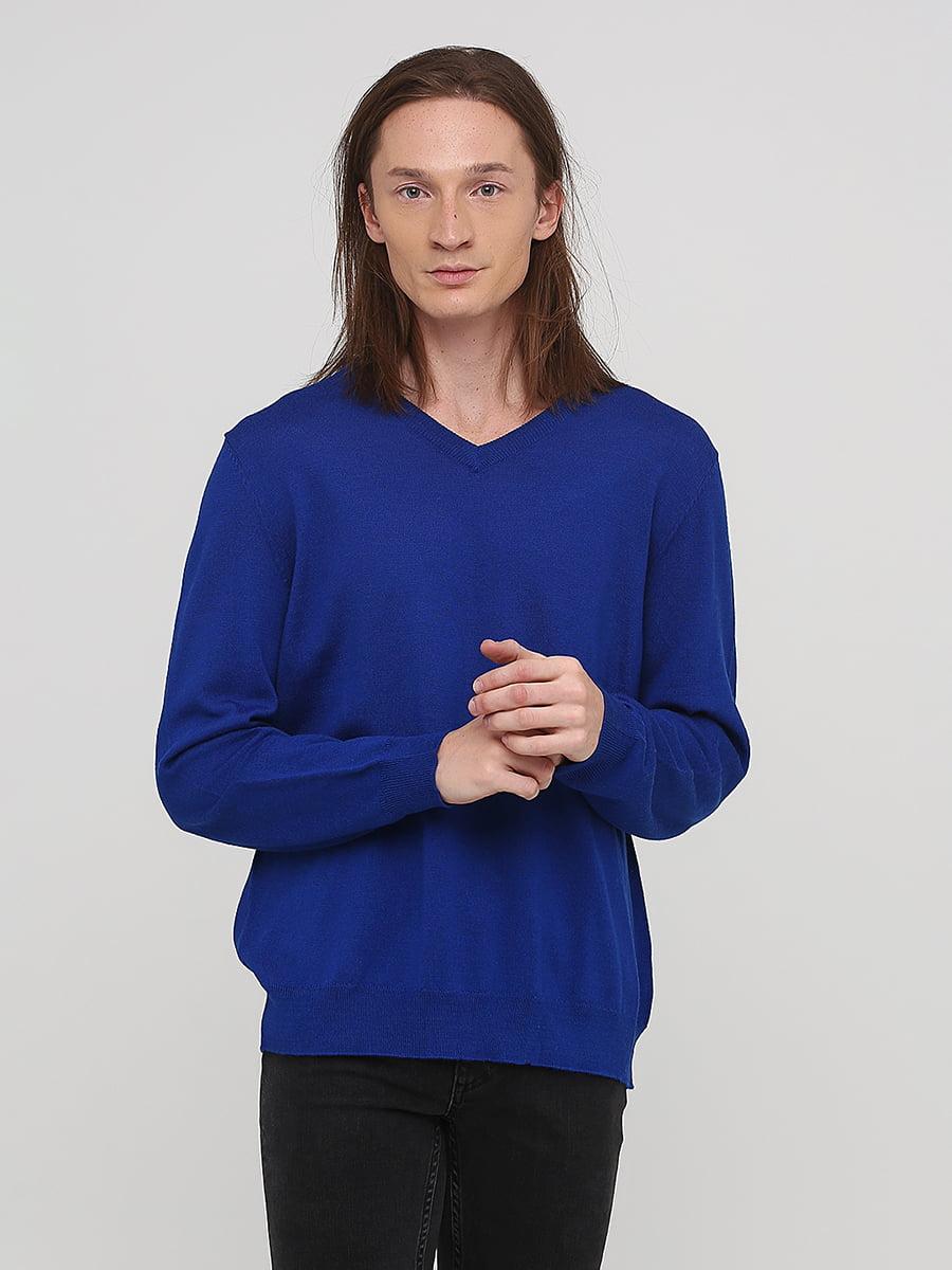 Пуловер кольору електрик | 5641768
