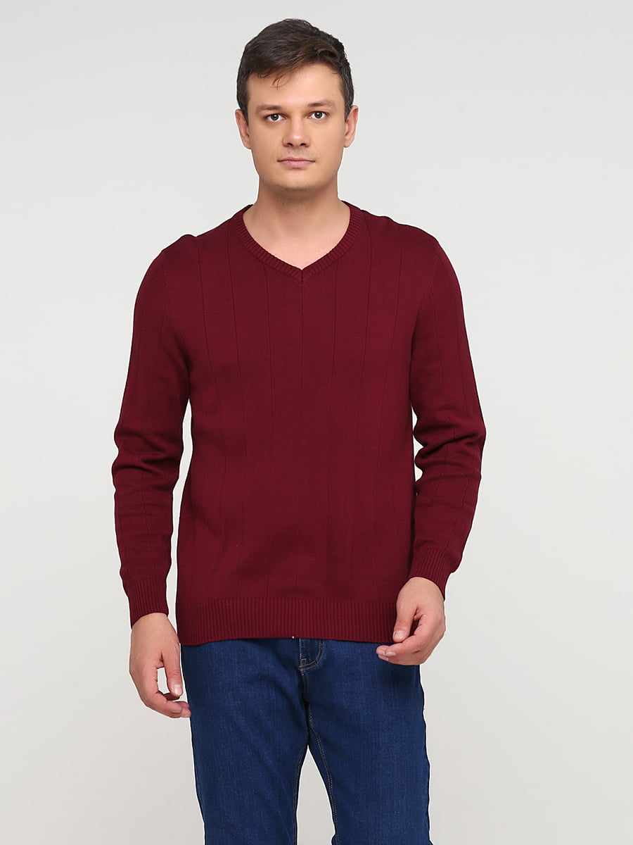 Пуловер бордовий | 5641771