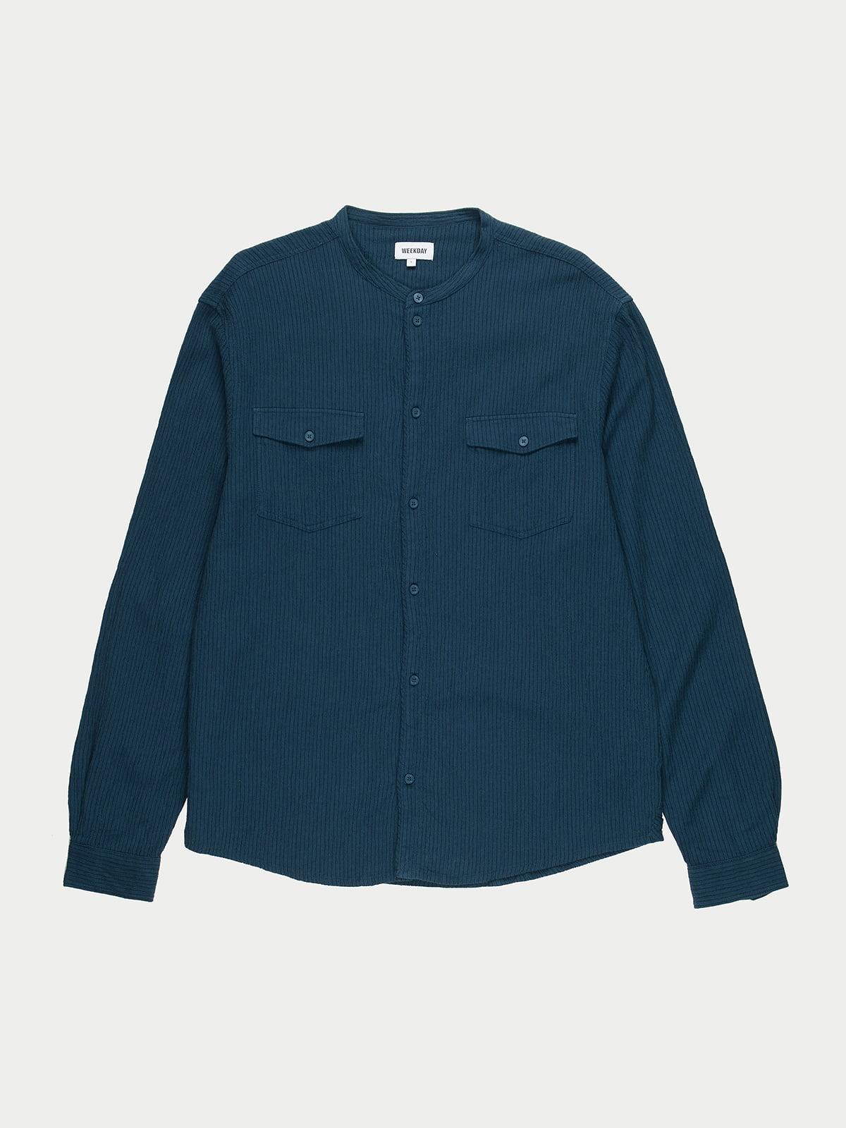 Сорочка темно-синя | 5619937