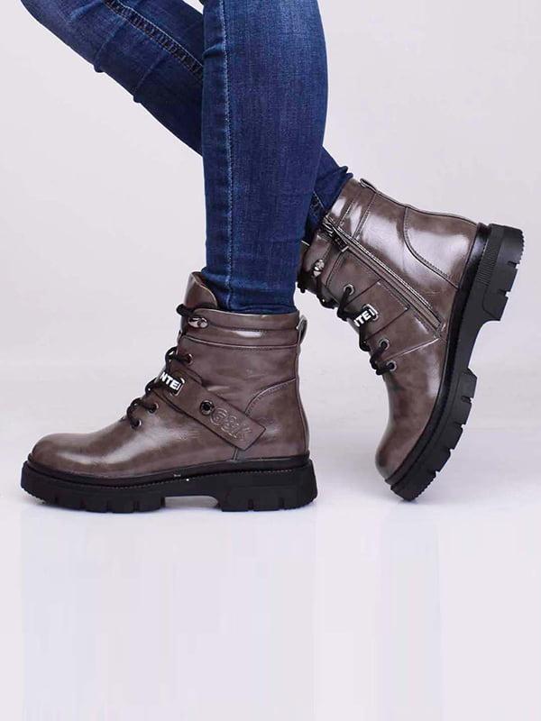 Ботинки цвета хаки | 5650206