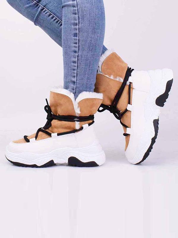 Ботинки бежевого цвета   5650280