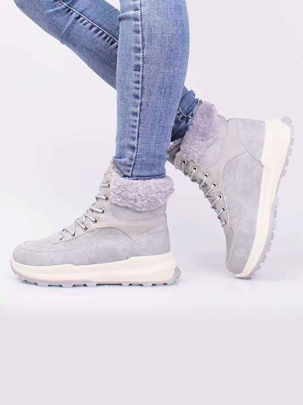 Ботинки серые | 5650311